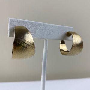 Vintage Goldtone Hoop Earrings
